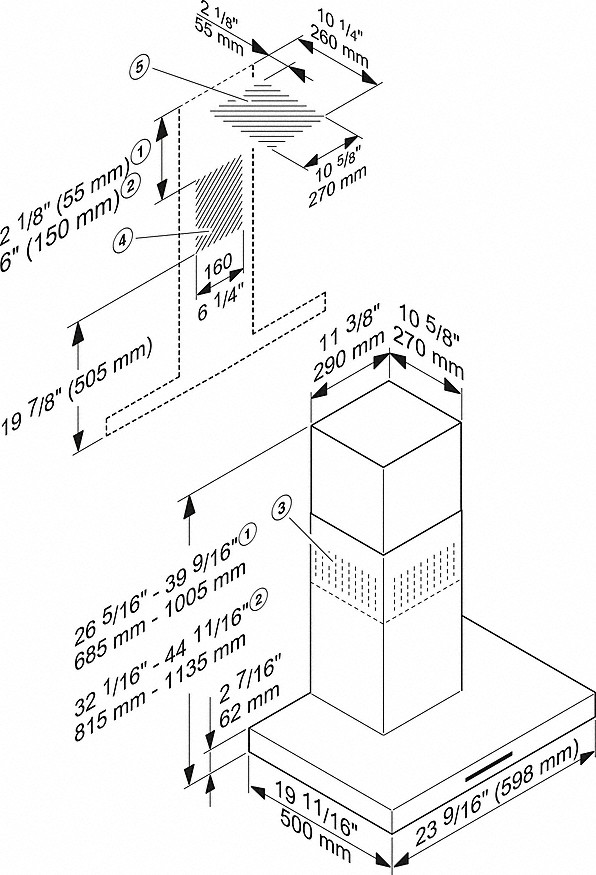 miele pur 68 w wall mounted d cor hood. Black Bedroom Furniture Sets. Home Design Ideas