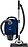 with high suction power for thorough vacuuming.--Marine Blue