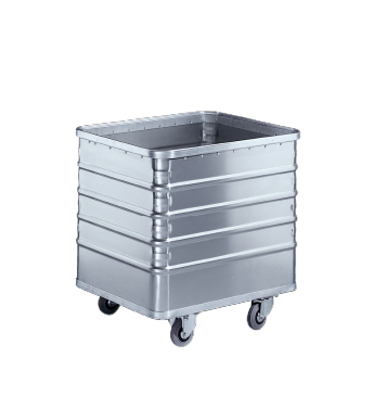 TW 01 - Light alloy cart --stainless steel exterior