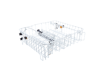 O 892 - Upper basket, plastic coated With insert E 812 and 2 support rails for a variety of glassware--White