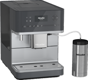 CM 6350 - Countertop coffee machine with OneTouch for Two feature and heated cup rack for perfect coffee.--
