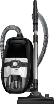 Blizzard CX1 Hardfloor PowerLine - SKCE0 - Canister vacuum cleaner without bag With high suction power and telescopic tube for thorough, convenient vacuuming.--Obsidian black