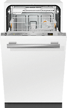 G 4780 SCVi AM - Fully-integrated, Slimline dishwasher with hidden controls, cutlery tray, custom panel handle ready, ADA Compliant--Stainless steel/CleanSteel