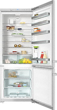 KFN 15943 D edt/cs - Freestanding bottom mount fridge freezer --Stainless steel/CleanSteel