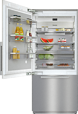 KF 2911 SF - MasterCool bottom mount fridge freezer --Stainless steel