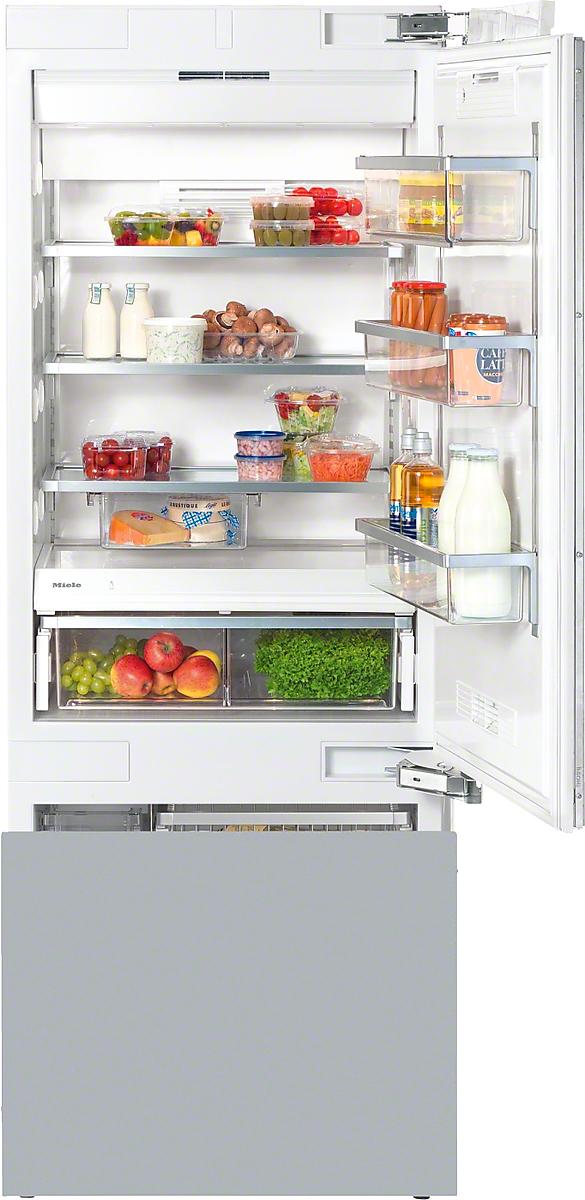 Miele kf 1803 vi mastercool bottom mount fridge freezer - Tall refrigerators small spaces property ...